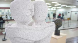 Muestra de esculturas en la Universidad