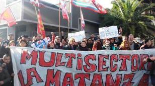Multisectorial se movilizó en San Justo en protesta contra Macri