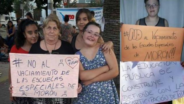 La comunidad se une para luchar contra el vaciamiento de las escuelas especiales de Morón
