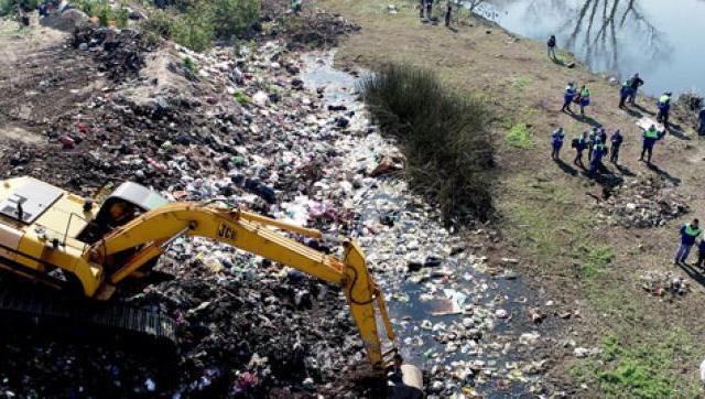 Megaoperativo de limpieza de márgenes en La Matanza