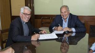La UNLaM firmó un convenio con el Obispado de San Justo