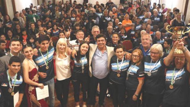 La Matanza recibió a los medallistas de los Juegos Bonaerenses