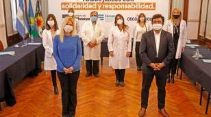 Magario, Espinoza y directores de hospitales  juntos para evaluar y articular acciones frente al Covid-19