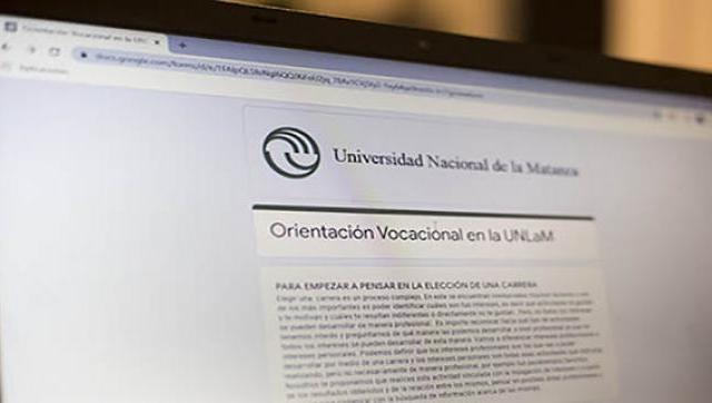 La UNLaM continúa ofreciendo cursos de orientación vocacional