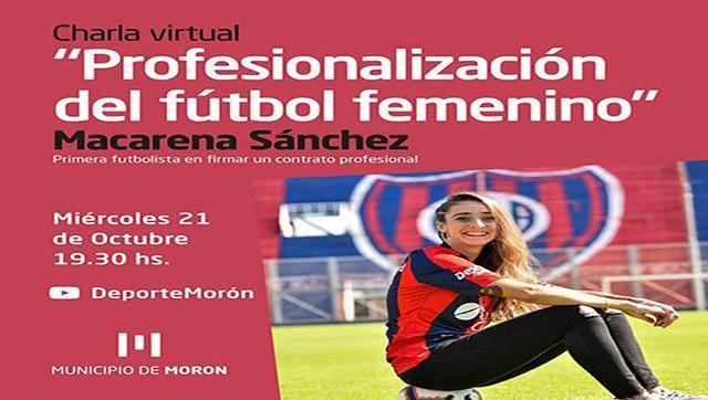 Charla virtual con Macarena Sánchez, la primera futbolista profesional