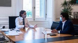 Espinoza se reunió con Cafiero para coordinar obras del desarrollo estratégico de La Matanza
