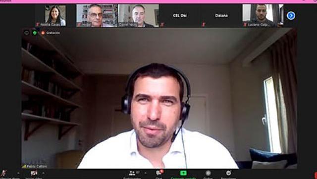 Pablo Cattoni brindó una clínica virtual para estudiantes de la UNLaM