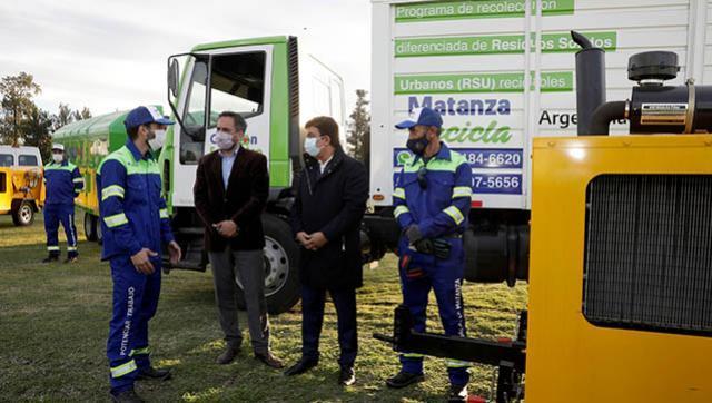 Entrega de equipamiento para la gestión integral de residuos en La Matanza