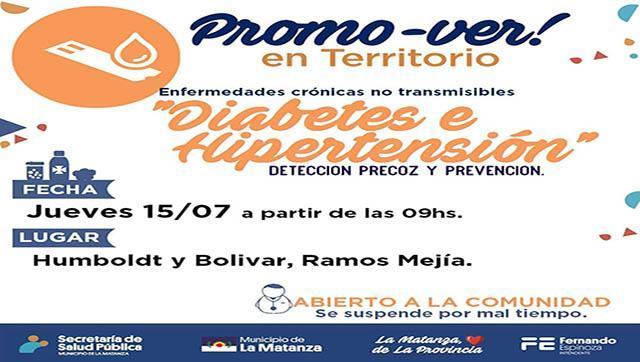 Jornada de Diabetes e Hipertensión en Ramos Mejía